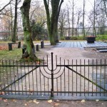 the Jewish cemetery gate