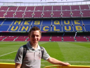 A dream of every player and referee: The Camp Nou in Barcelona, one of the biggest stadiums in Europe.