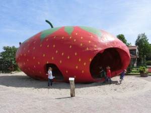 A giant strawberry